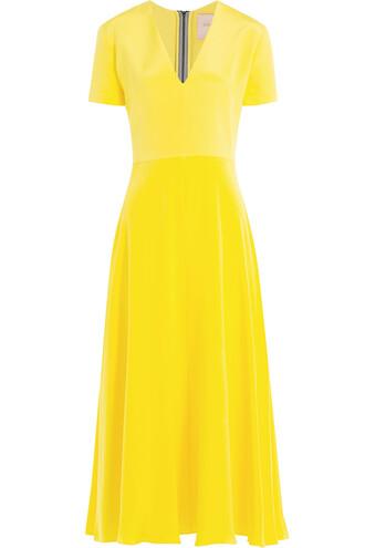dress colorblock dress colorblock silk yellow