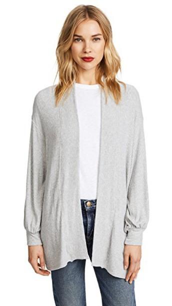 Velvet cardigan cardigan grey heather grey sweater