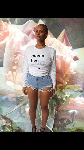 sweater beyonce shorts casual