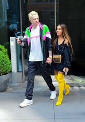 shoes,boots,over the knee boots,sweatshirt,ariana grande