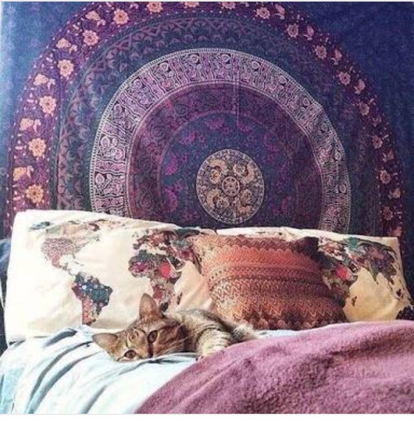 Home Accessory Purple Tapestry Boho Hippie Summer Home Decor Wall Decor  Love Boho Decor Home Decoration Part 86