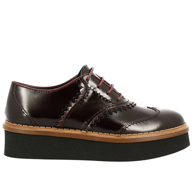 Tods women shoes burgundy