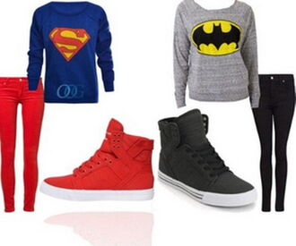 shoes batman superman superheroes shoes black wedges pants