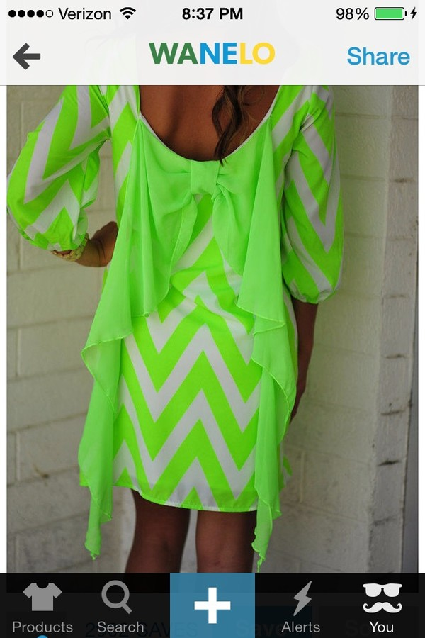dress clothes chevron green neon