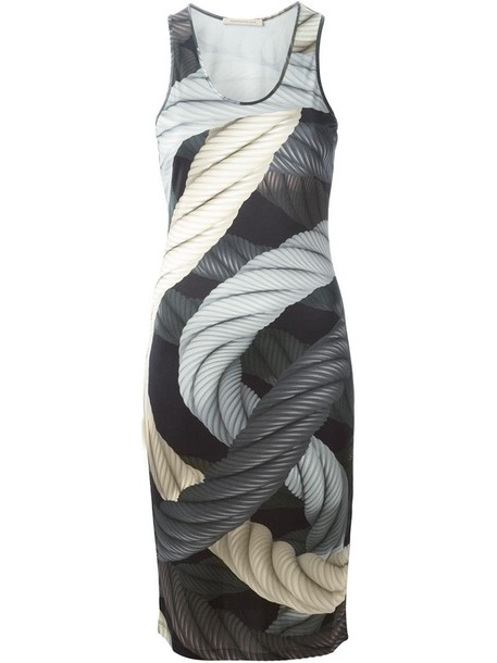 CHRISTOPHER KANE dress sleeveless dress sleeveless women print black silk