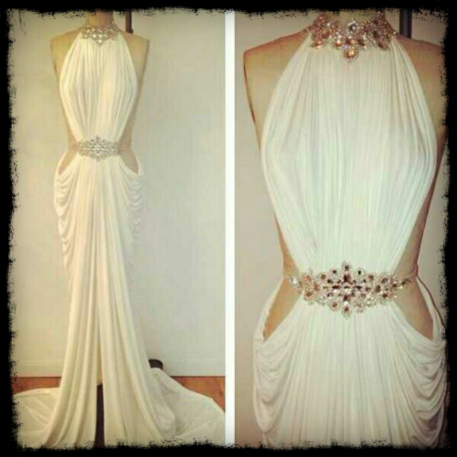 2014 michael costello evening prom gown