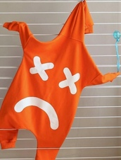 jumpsuit,kids fashion,kids jumpsuit,kids rompers,orange jumpsuit,orange jumpsuits,orange romper,orange,smiley