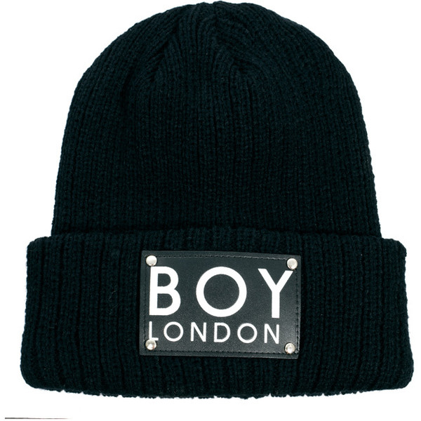 Boy London Patch Beanie Hat - Polyvore