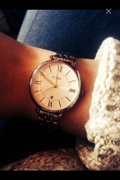 nail accessories,watch,women,fossil,gold rose,jewels