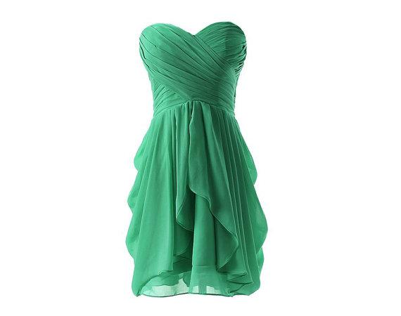 Green bridesmaid dress short bridesmaid dress by onlyudress