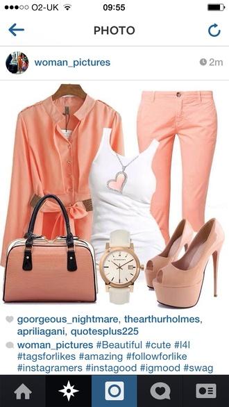 jeans pastel pink orange fashion summer smart cool girly