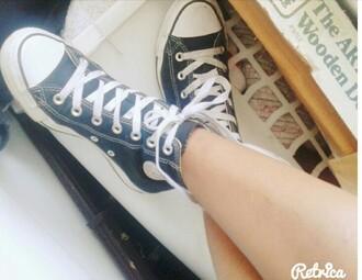shoes converse black converse high tops