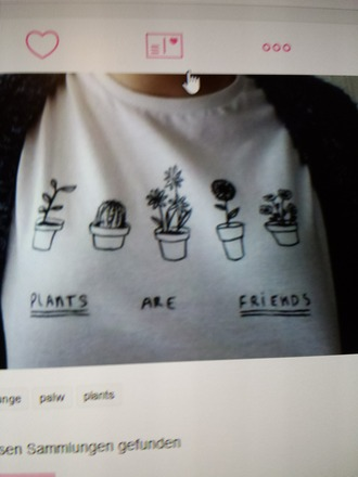 shirt white t-shirt white grunge pale plants basic