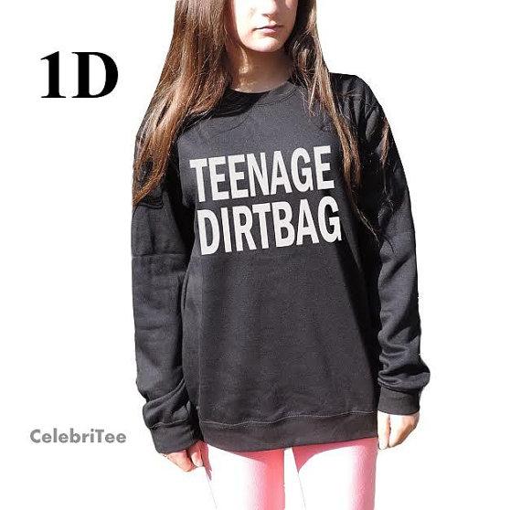 Teenage Dirtbag Sweatshirt One direction Sweater by CelebriTee