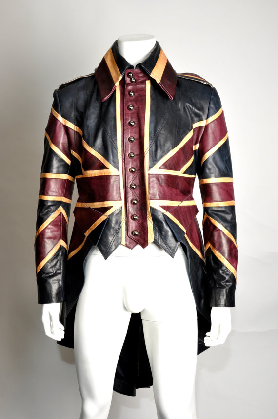Union jack mens leather diamond jubilee exclusive by imperolondon