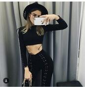 pants,black dress,love,serena van der woodsen,blair waldorf,gossip girl,black laces sneakers,beautiful,fashion toast