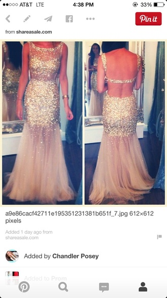 dress prom dress prom gown gold sequins open back dresses open back prom dress