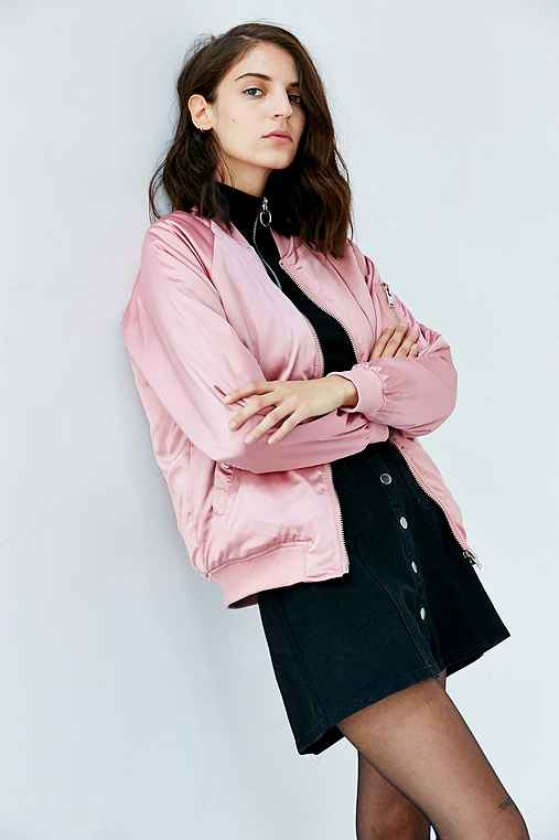 f4a5c4d47 UNIF X UO Satin Bomber Jacket - Urban Outfitters