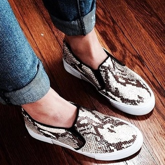 shoes slip on chiara ferragni steve madden tnyc snake snake print the blond salad tnyc-a tnyc-s slip on shoes