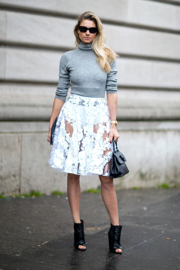 See Through Midi Skirt - Shop for See Through Midi Skirt on Wheretoget