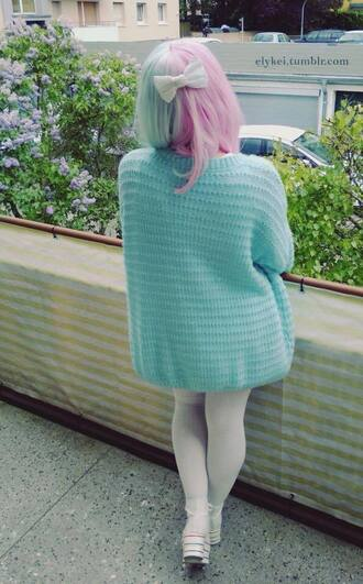 cardigan pastel pastel goth tumblr light blue