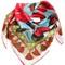 Roses printed silk satin scarf