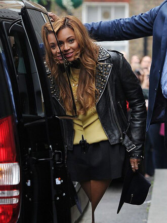shirt jacket beyoncé hat skirt