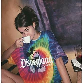 shirt disney tie dye summer t-shirt oversized neon soft grunge cool