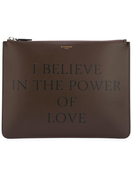 Givenchy women love clutch brown bag