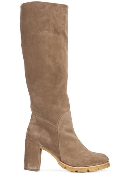 Silvano Sassetti women suede brown shoes