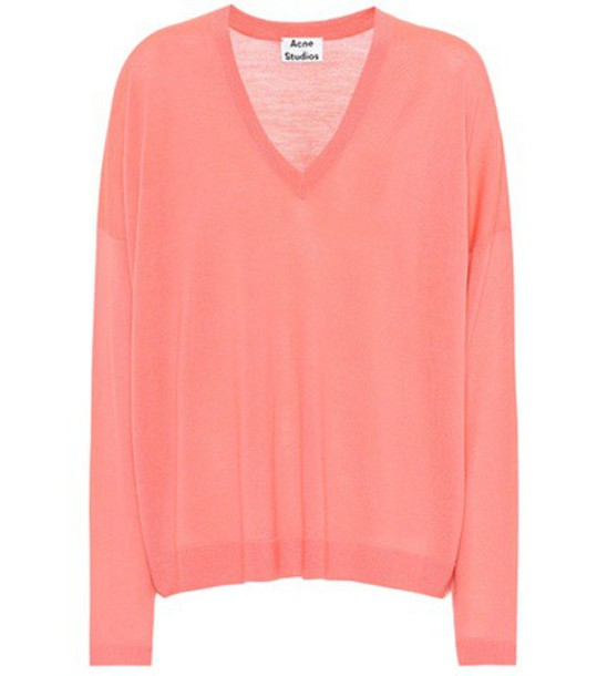 sweater wool sweater wool pink