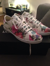 shoes,dolce and gabbana,floral,sneakers