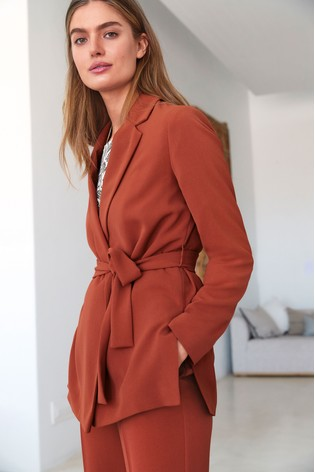 Buy Rust Belted Jacket from the Next UK online shop