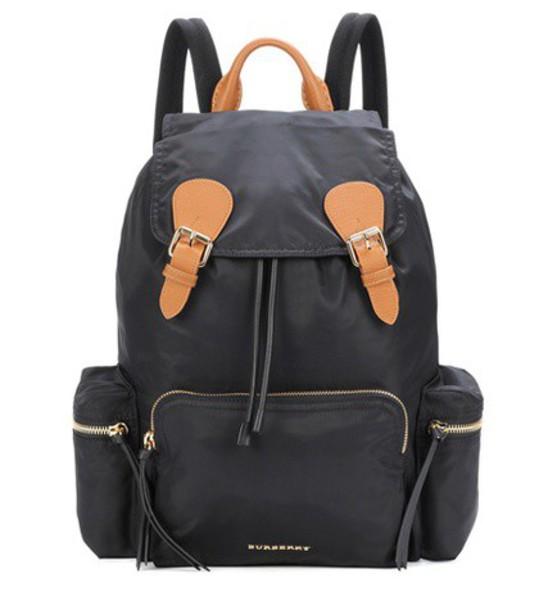 Burberry backpack leather black bag