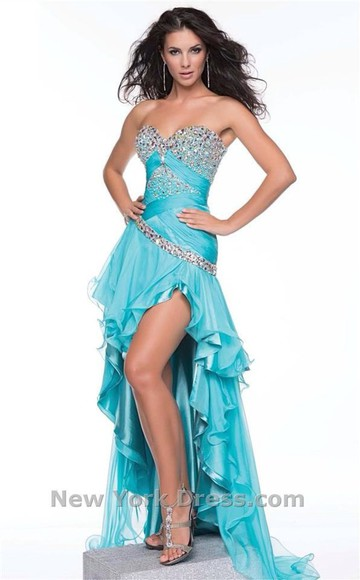 blue blue dress high low dress high low high low prom dresses prom dress prom
