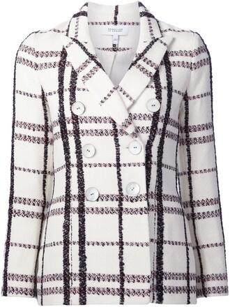 jacket women white cotton wool