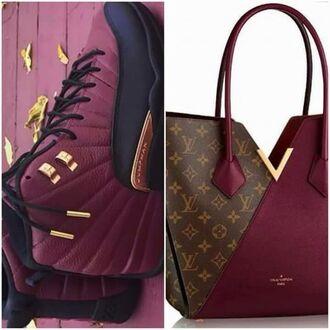 shoes burgundy louis vuitton sneakers burgundy shoes bag jordans taxi 12s bordeau black gold