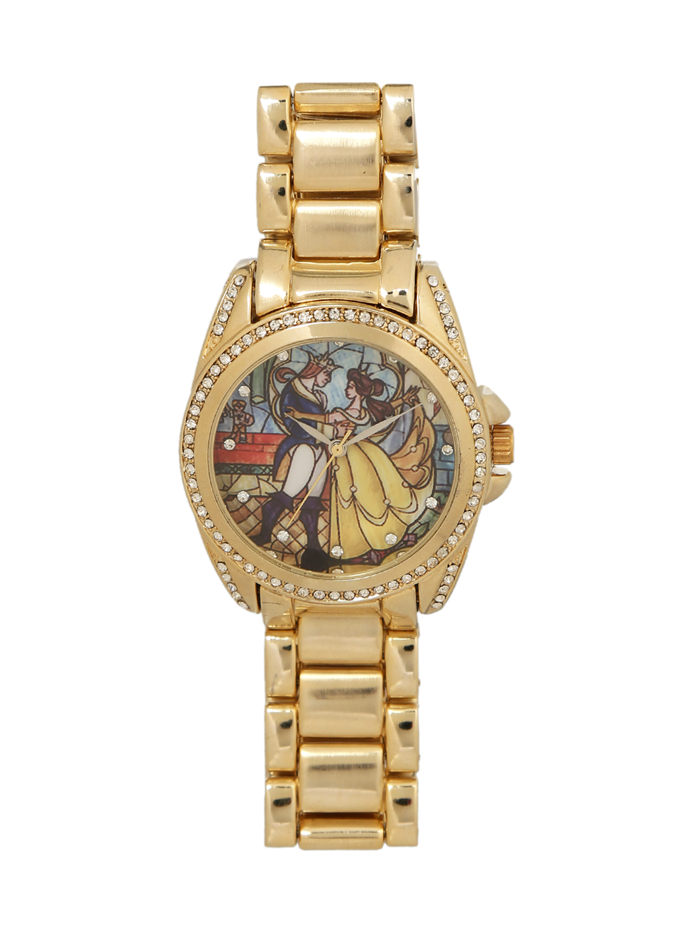 Disney beauty and the beast stained glass watch on wanelo