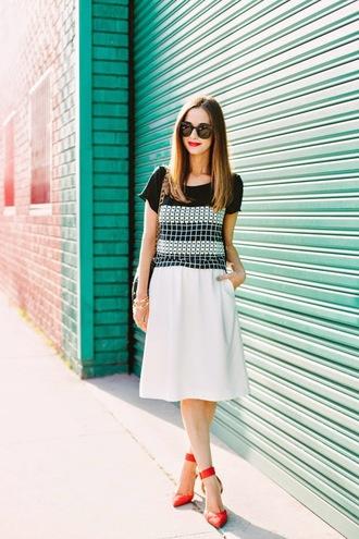 m loves m t-shirt skirt shoes sunglasses