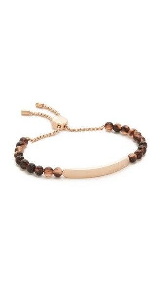 beaded bracelet rose gold rose beaded gold blush jewels