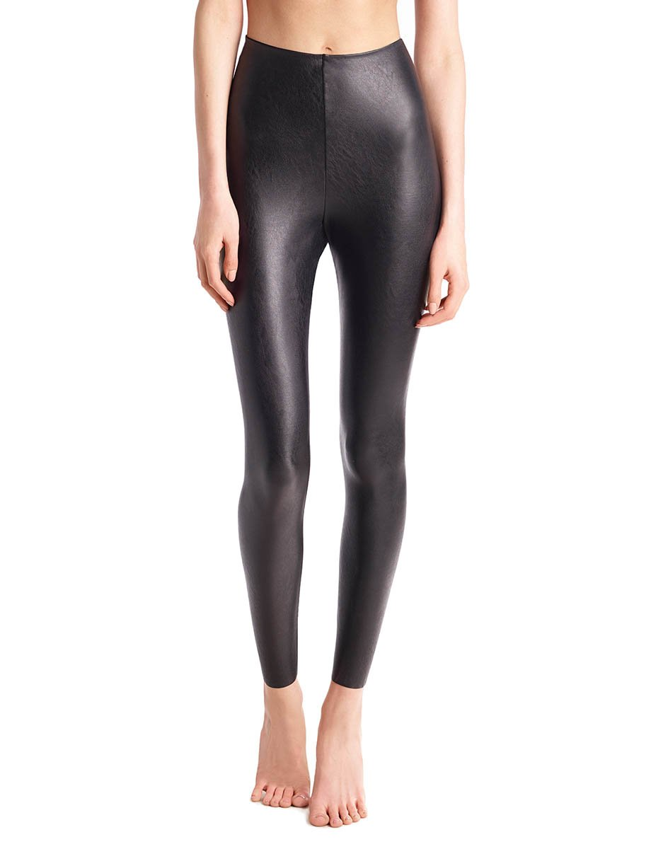 Faux Leather Leggings with Perfect Control