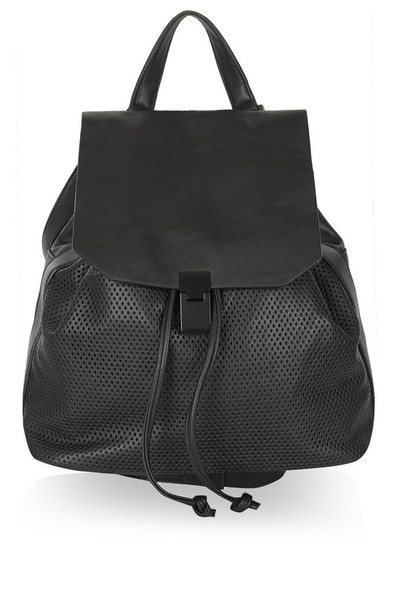 bag backpack purse backpack purse black leather topshop