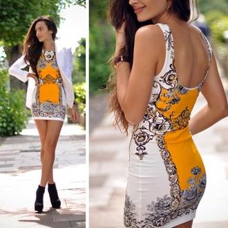 dress bodycon dress white dress