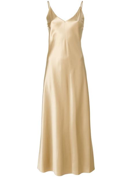 Joseph dress slip dress long women nude silk