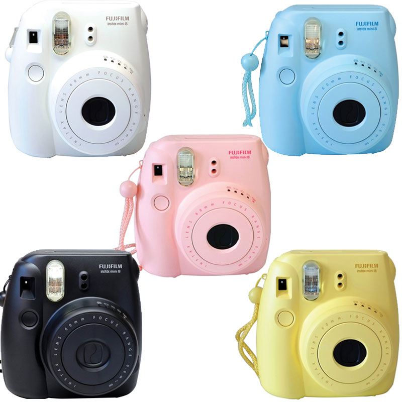 Fuji Instax Mini 8 Fujifilm Instant Film Camera Pink Black Blue White Yellow | eBay