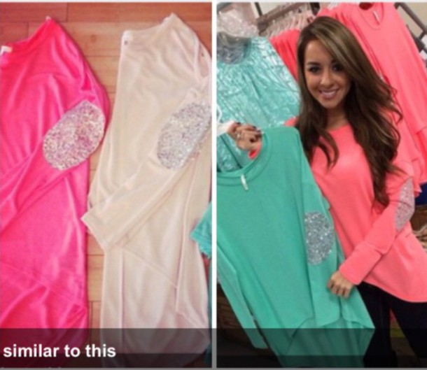 blouse coral mint top oversized pockets glitter sequins sparkle sparkle shirt long sleeves long sleeve shirt wholesale sequin shirt long sleeves