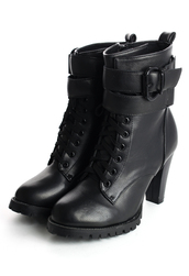 shoes,zip,lace up,boots,black,heel boots