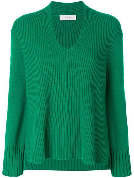 sweater women wool green