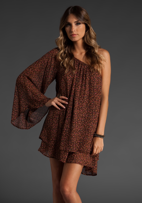 """Blu moon flower child dress in """"oh so fine floral"""" at revolve clothing"""