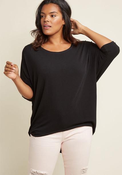 FL3862 top black top chic high soft cozy black